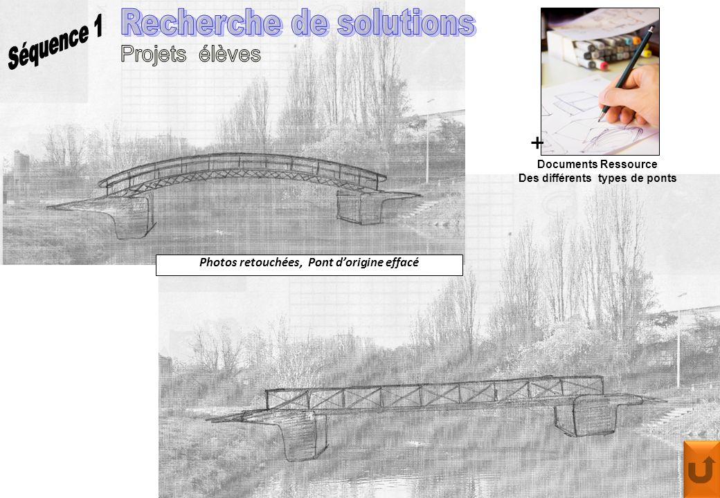 Photos retouchées, Pont d'origine effacé + Documents Ressource Des différents types de ponts
