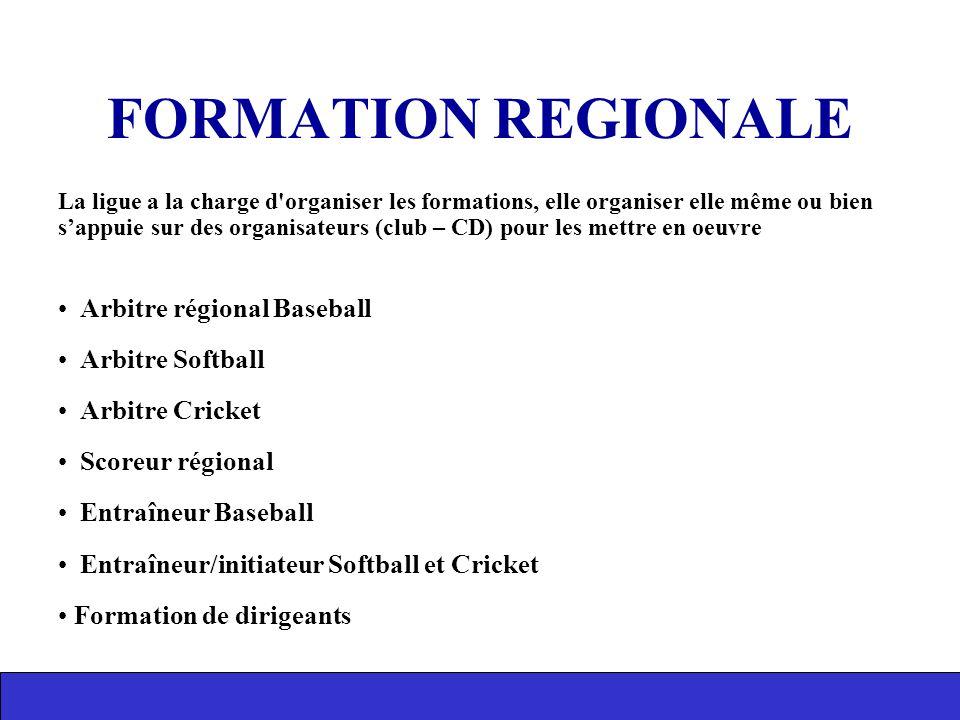 La ligue a la charge d'organiser les formations, elle organiser elle même ou bien s'appuie sur des organisateurs (club – CD) pour les mettre en oeuvre
