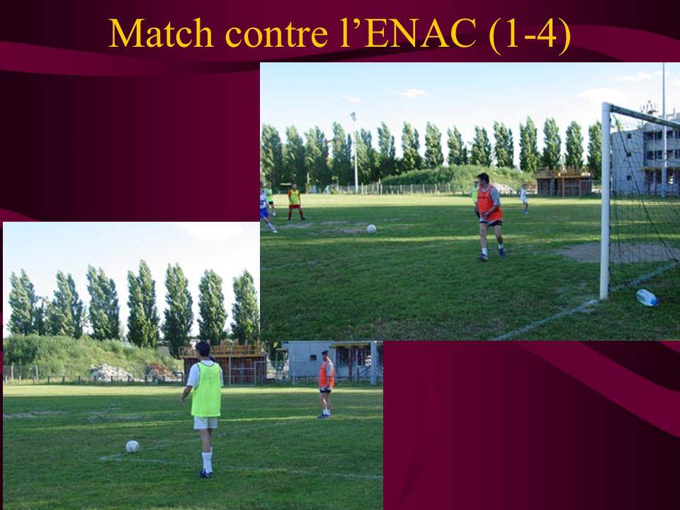 Match contre l'ENAC (1-4)