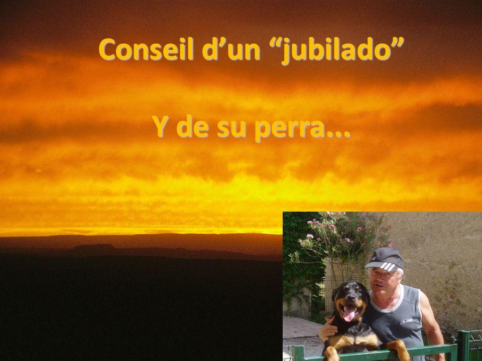 Conseil d'un jubilado Y de su perra...
