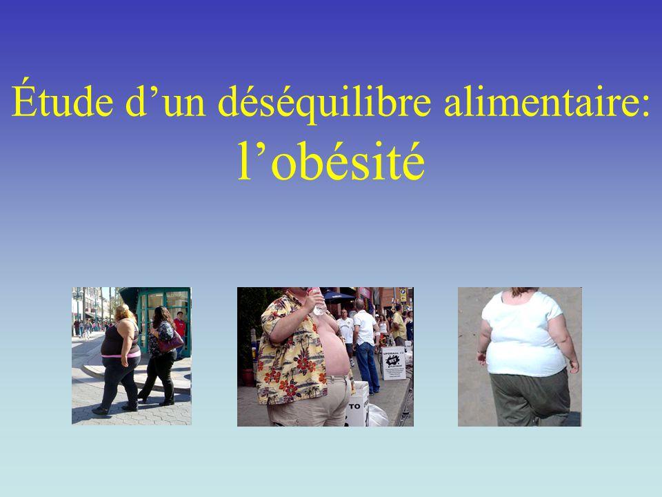 Étude d'un déséquilibre alimentaire: l'obésité