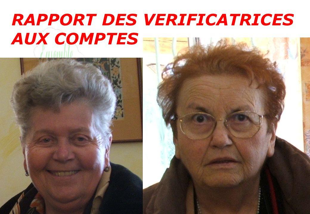 RAPPORT DES VERIFICATRICES AUX COMPTES