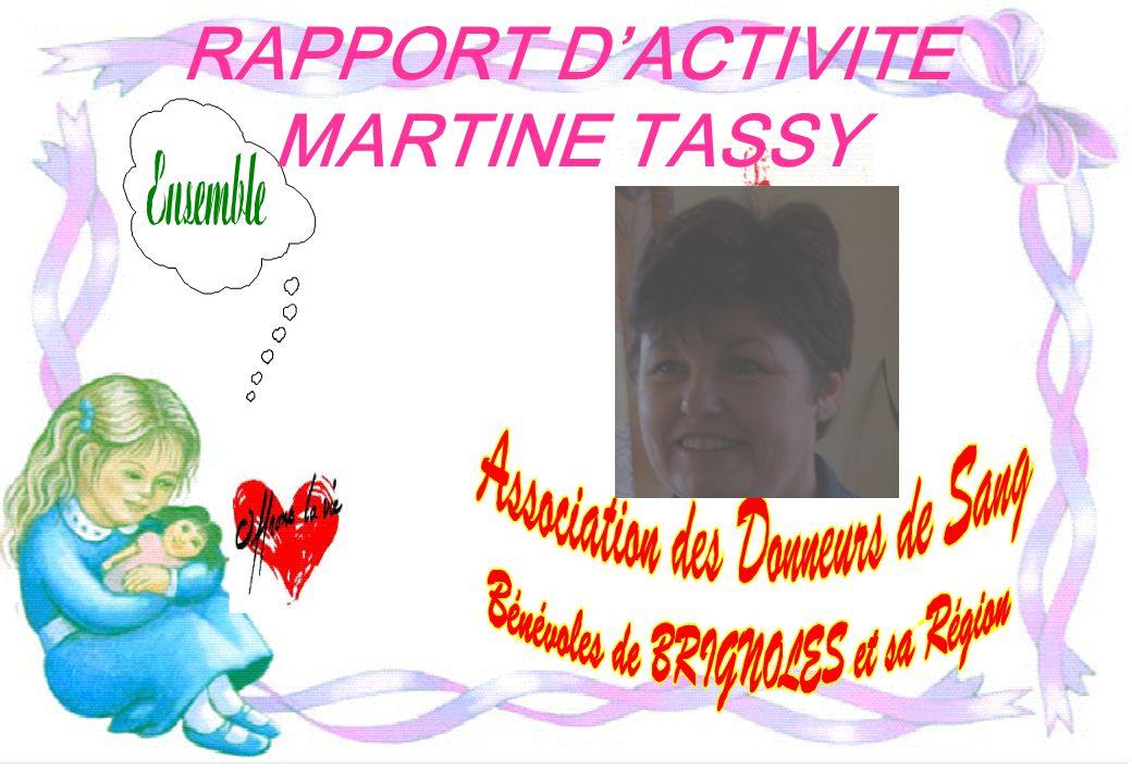 RAPPORT D'ACTIVITE MARTINE TASSY