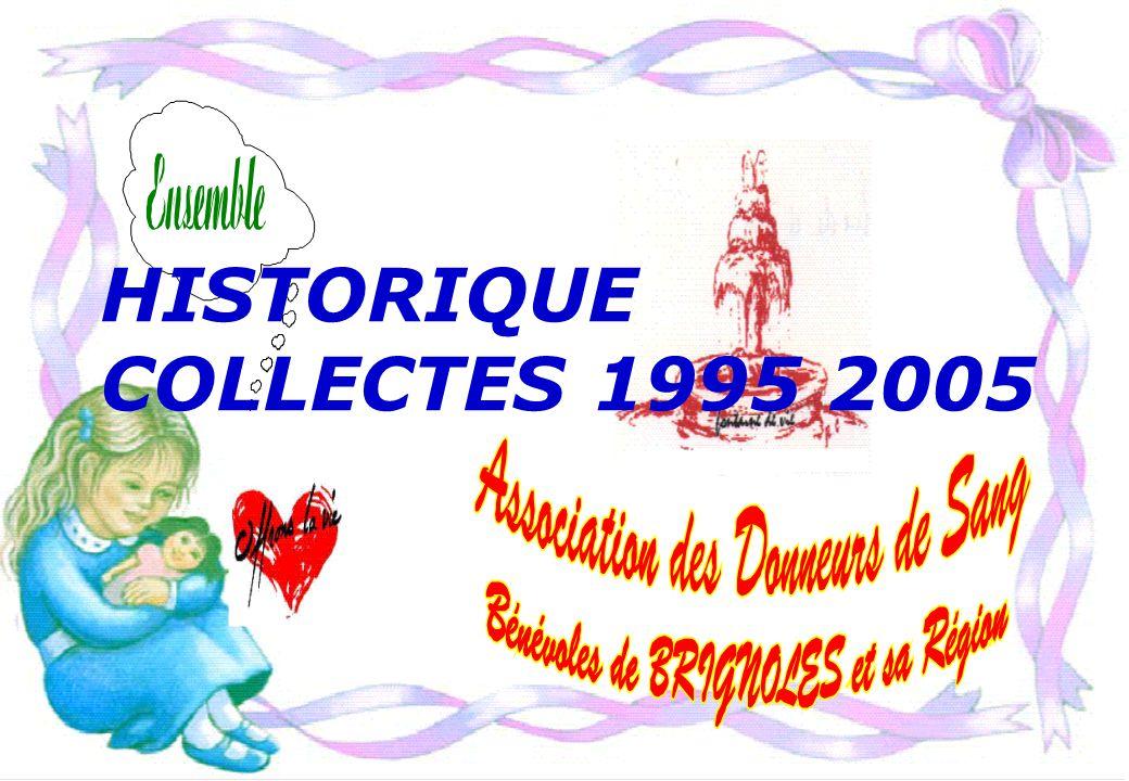 HISTORIQUE COLLECTES 1995 2005