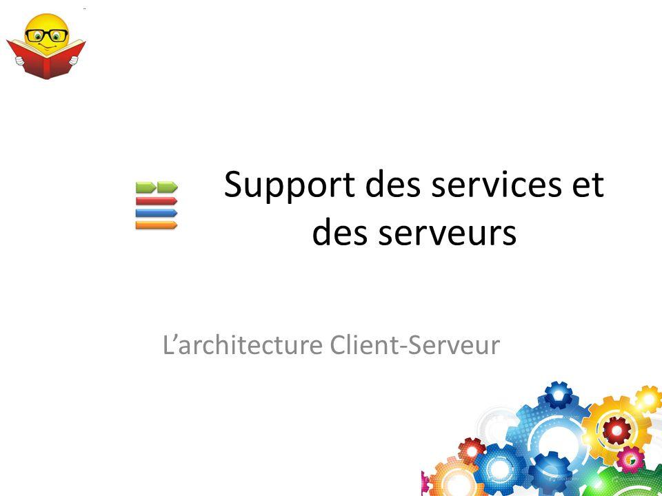 Support des services et des serveurs L'architecture Client-Serveur