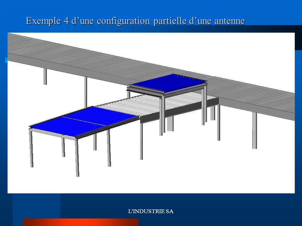 L'INDUSTRIE SA Exemple 4 d'une configuration partielle d'une antenne