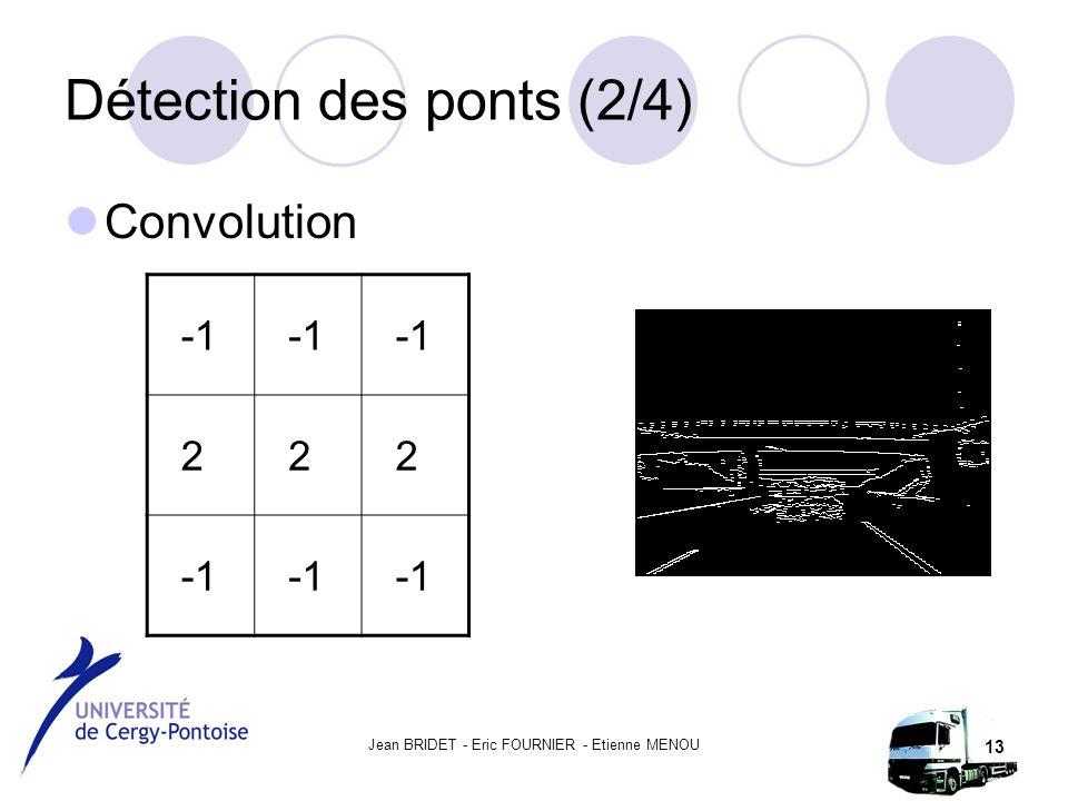 Jean BRIDET - Eric FOURNIER - Etienne MENOU 13 Détection des ponts (2/4) Convolution 222