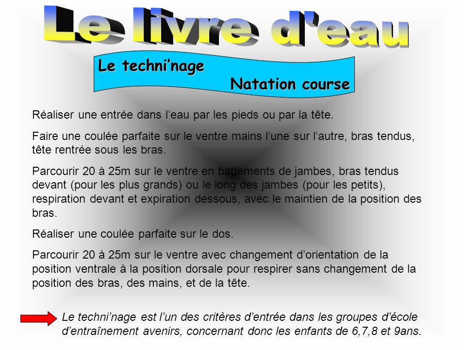 Le techni'nage Natation synchronisée Ce test permet l'entrée dans le groupe d'école d'entraînement synchro, concernant les enfants de 10 et 11ans.