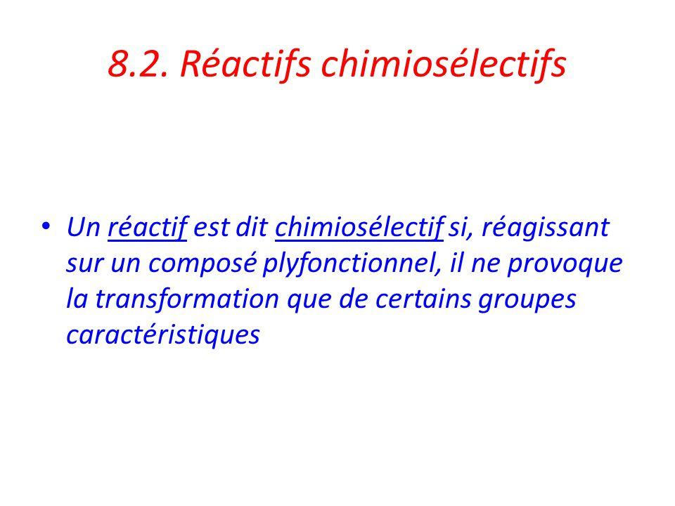 Application : sélectivité en chimie organique