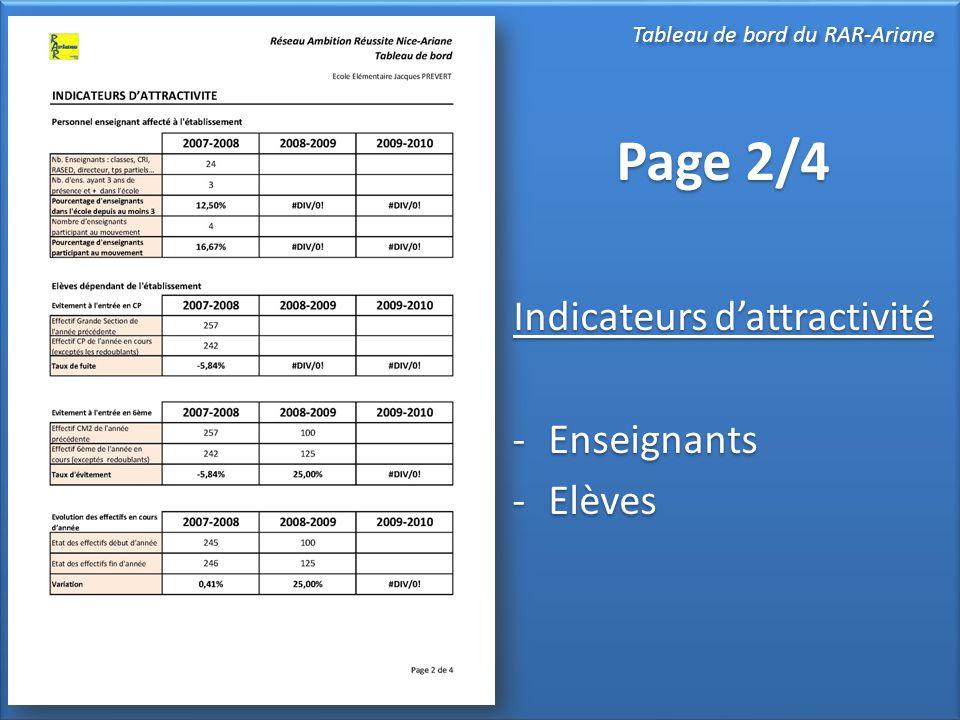 Page 3/4 Niveau scolaire - Présence des évaluations nationales .