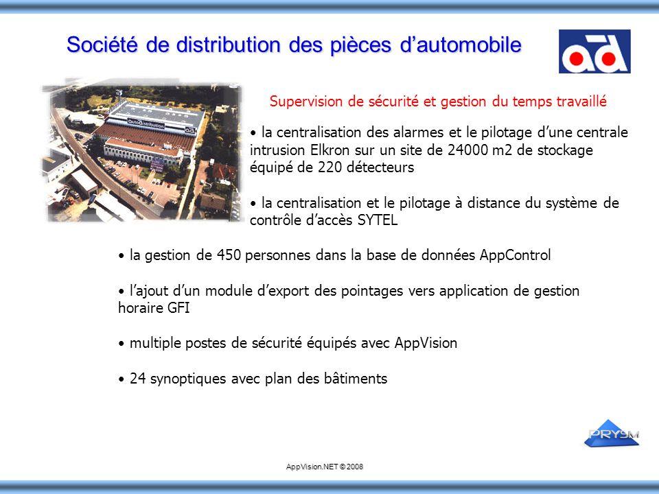 Société de distribution des pièces d'automobile la centralisation des alarmes et le pilotage d'une centrale intrusion Elkron sur un site de 24000 m2 d