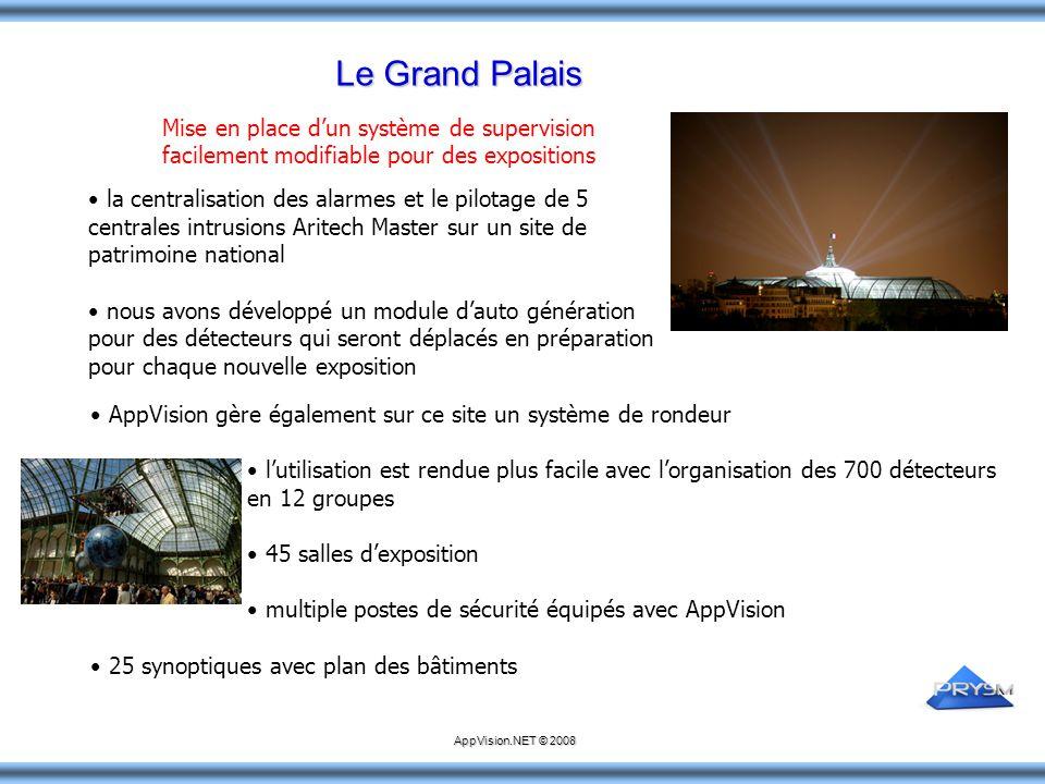 Le Grand Palais la centralisation des alarmes et le pilotage de 5 centrales intrusions Aritech Master sur un site de patrimoine national nous avons dé