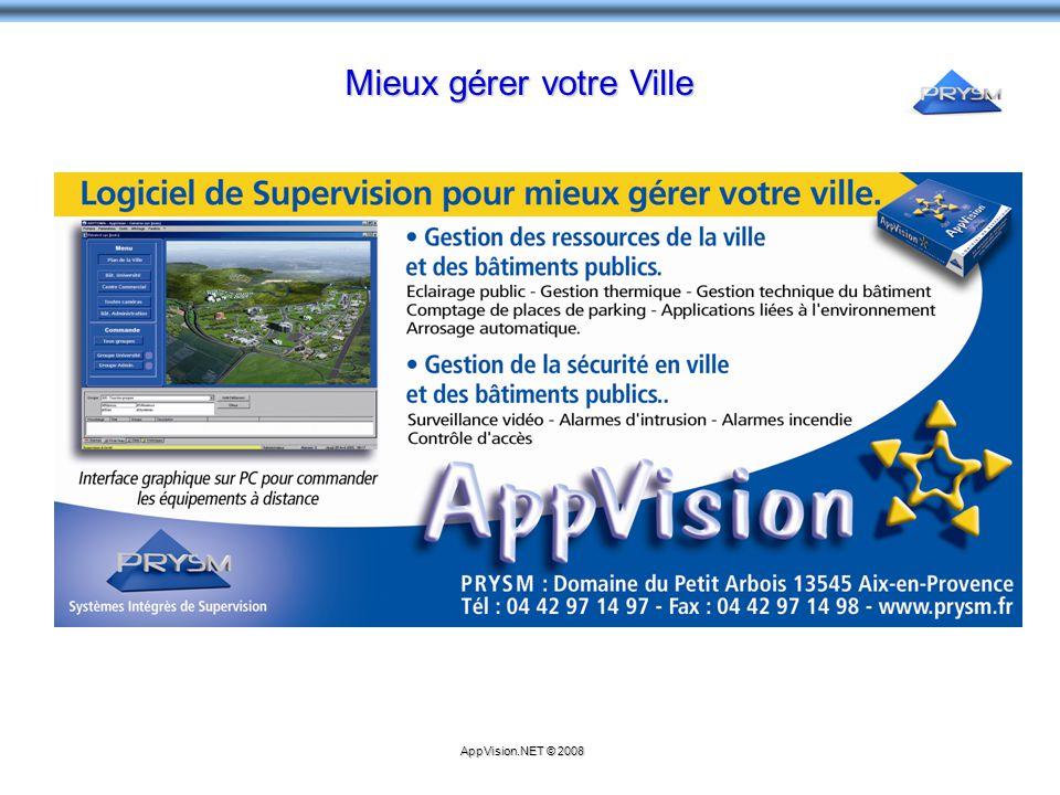 Mieux gérer votre Ville AppVision.NET © 2008