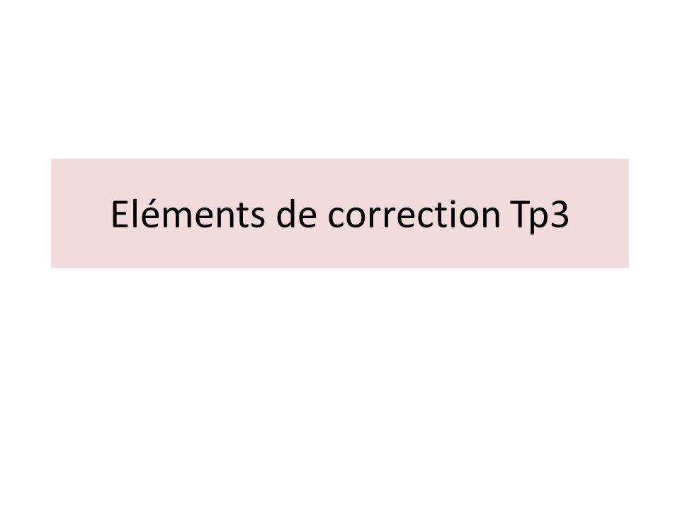Eléments de correction Tp3