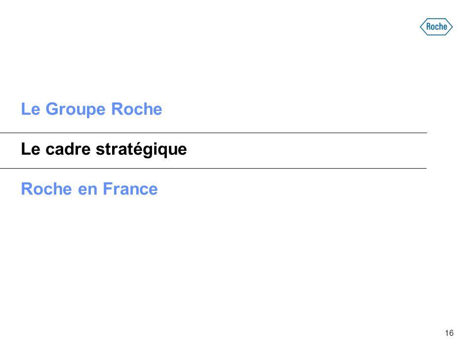 16 Le Groupe Roche Le cadre stratégique Roche en France