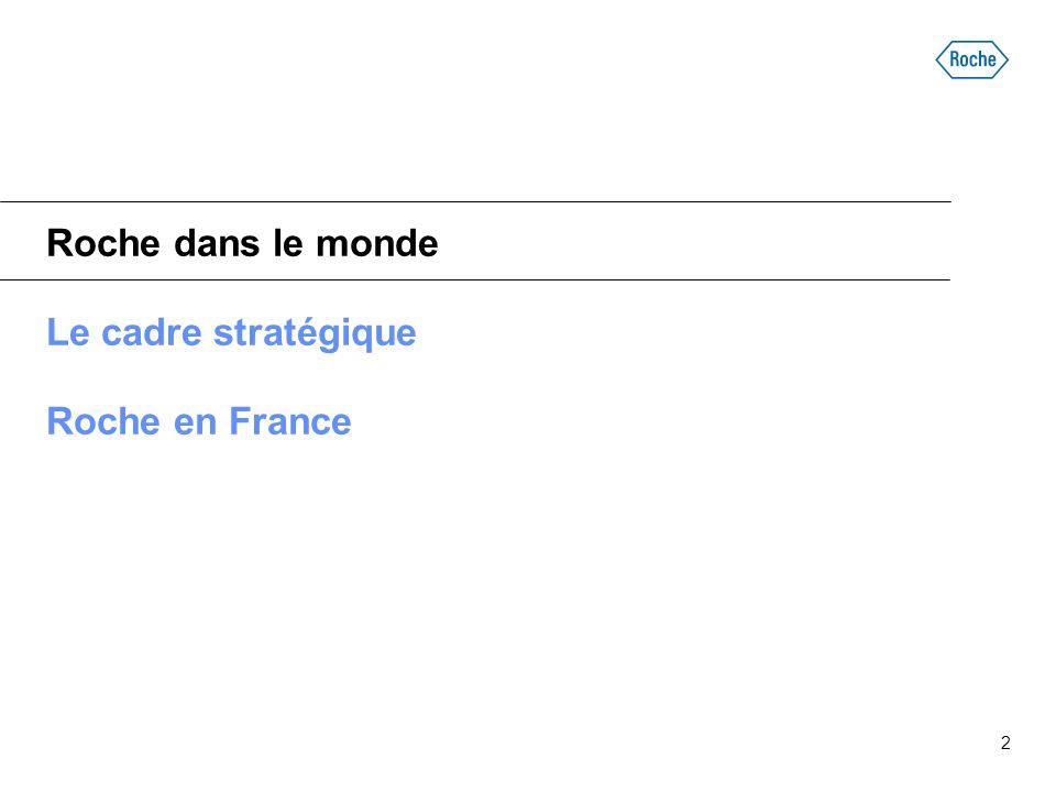 2 Roche dans le monde Le cadre stratégique Roche en France