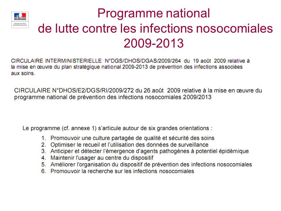 15 Programme national de lutte contre les infections nosocomiales 2009-2013