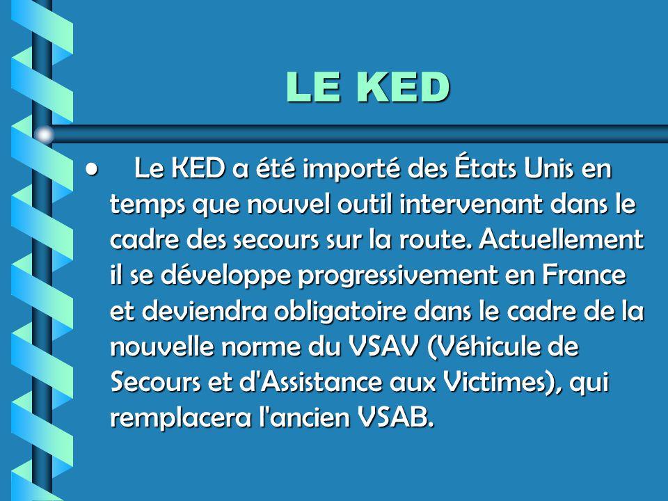 LE KED Le KED a été importé des États Unis en temps que nouvel outil intervenant dans le cadre des secours sur la route.