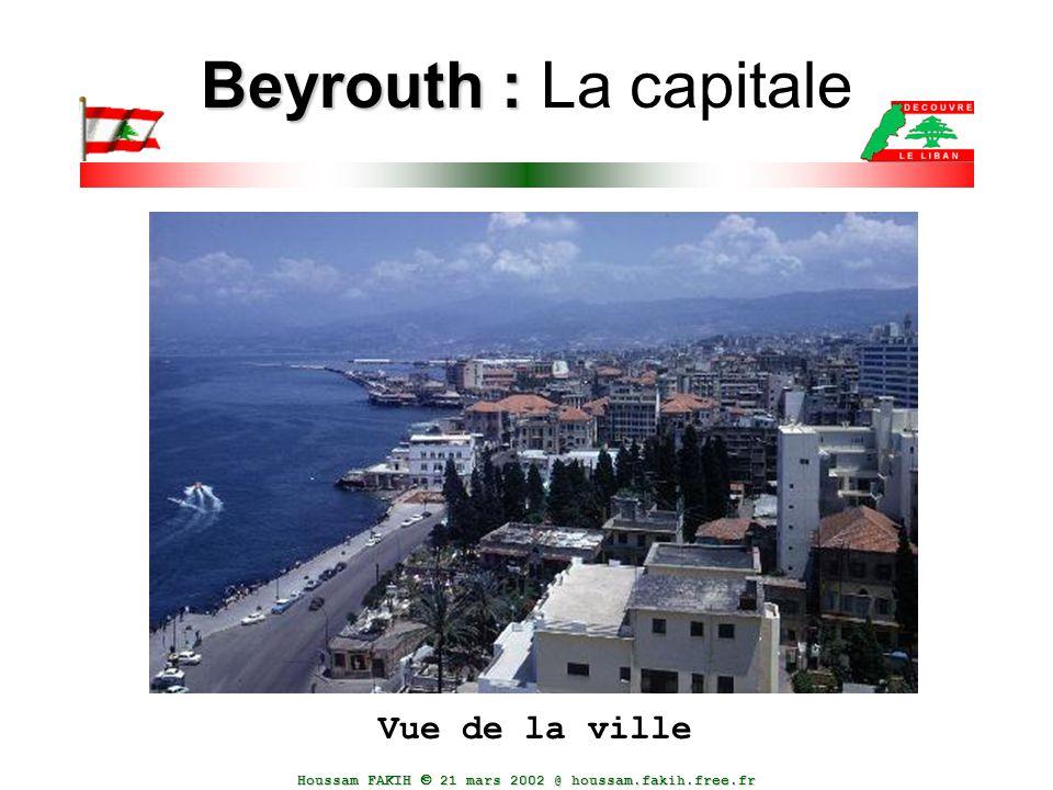 Houssam FAKIH  21 mars 2002 @ houssam.fakih.free.fr Beyrouth : Beyrouth : La capitale Vue de la ville