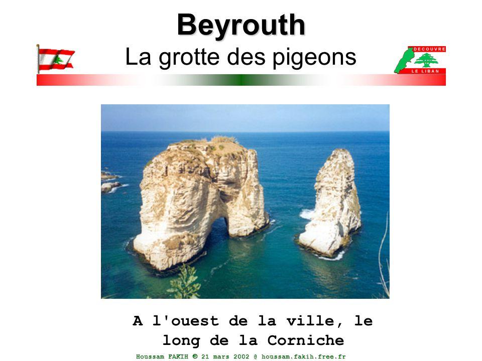 Houssam FAKIH  21 mars 2002 @ houssam.fakih.free.fr Beyrouth Beyrouth La grotte des pigeons A l'ouest de la ville, le long de la Corniche