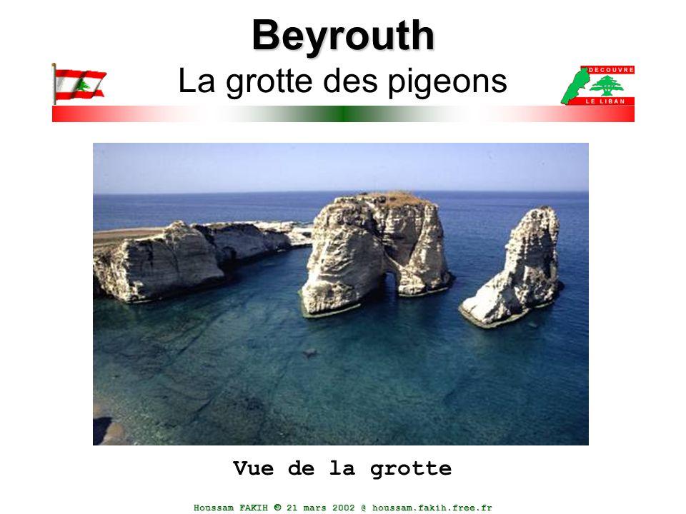 Houssam FAKIH  21 mars 2002 @ houssam.fakih.free.fr Beyrouth Beyrouth La grotte des pigeons Vue de la grotte
