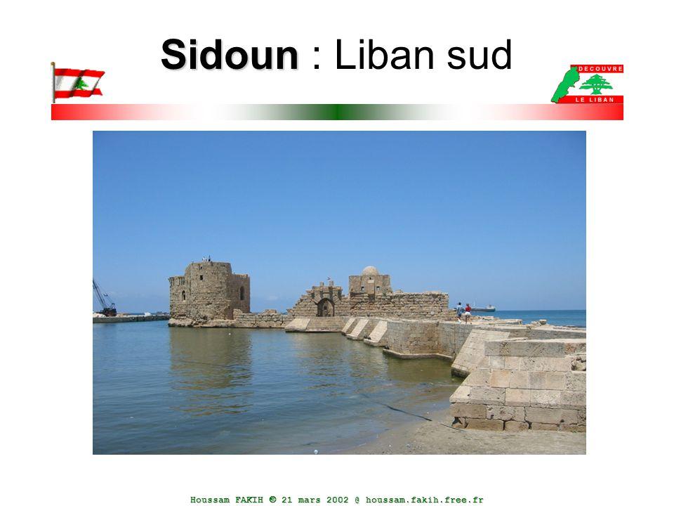 Houssam FAKIH  21 mars 2002 @ houssam.fakih.free.fr Sidoun Sidoun : Liban sud