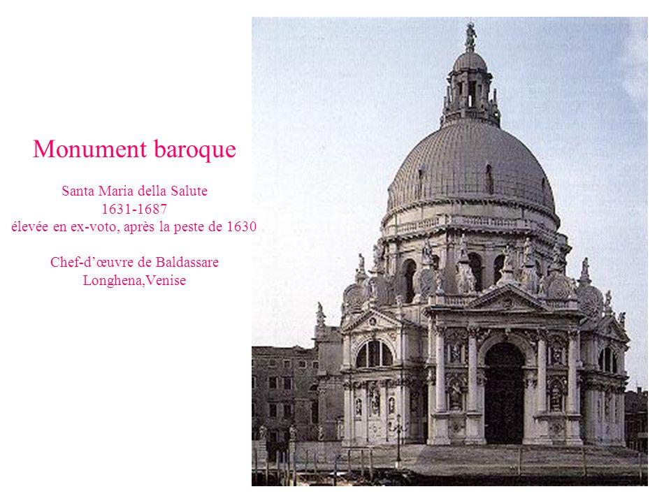 Monument baroque Santa Maria della Salute 1631-1687 élevée en ex-voto, après la peste de 1630 Chef-d'œuvre de Baldassare Longhena,Venise