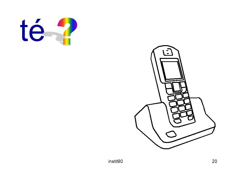 instit9020 téléphone