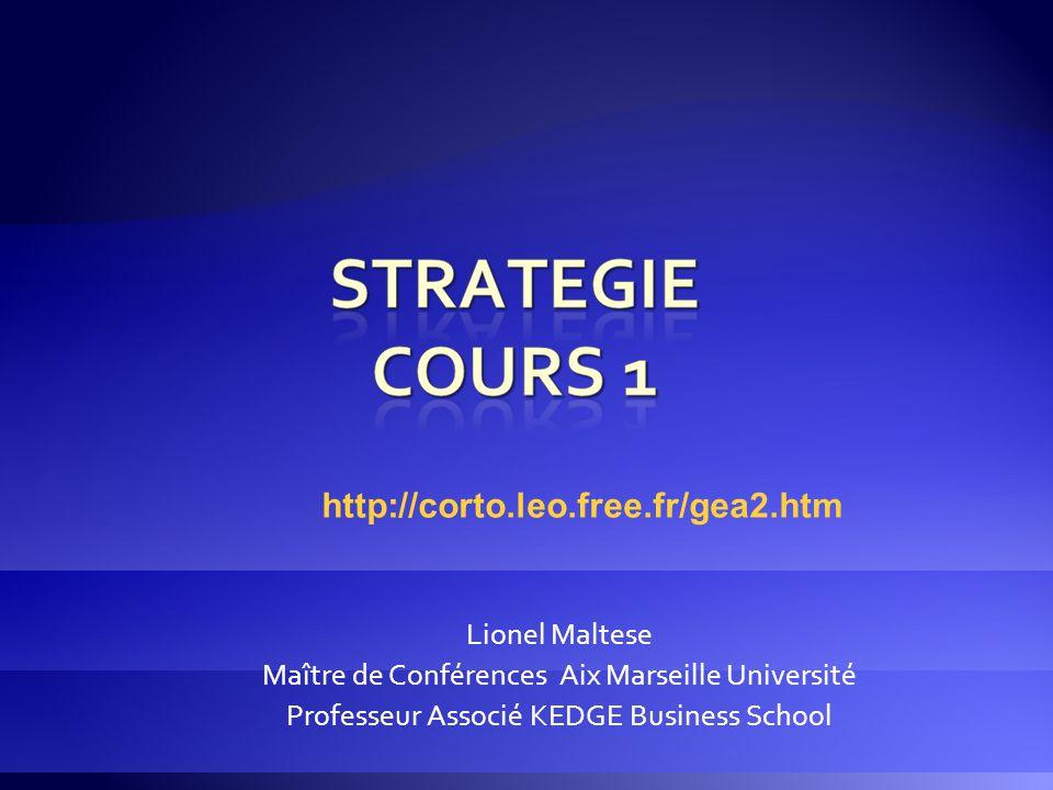 Lionel Maltese Maître de Conférences Aix Marseille Université Professeur Associé KEDGE Business School http://corto.leo.free.fr/gea2.htm