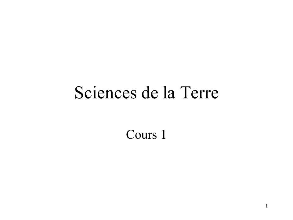1 Sciences de la Terre Cours 1