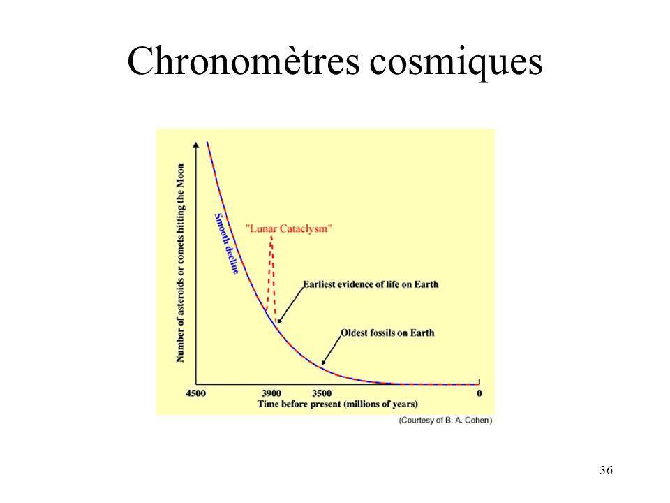 36 Chronomètres cosmiques