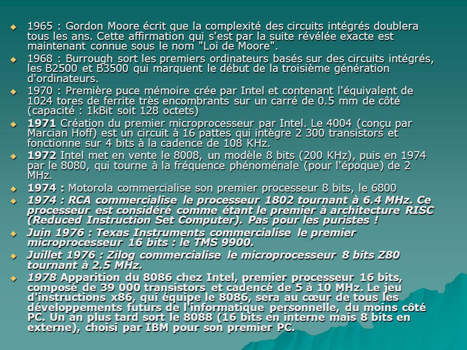  Mai 1978 : Intel lance la production de son processeur 16 bits 8086 tournant à 4.77 MHz.