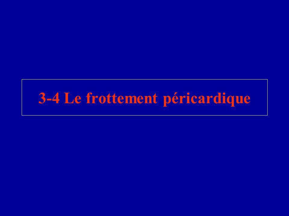 3-4 Le frottement péricardique