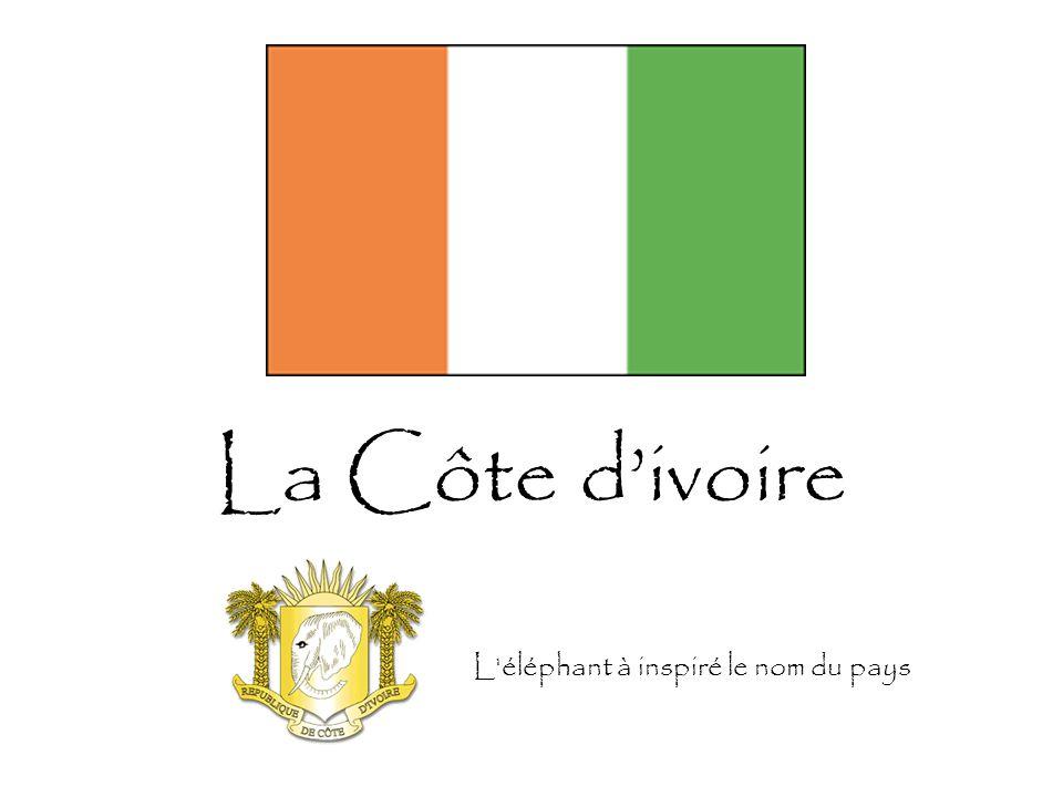 La Côte d'ivoire L'éléphant à inspiré le nom du pays
