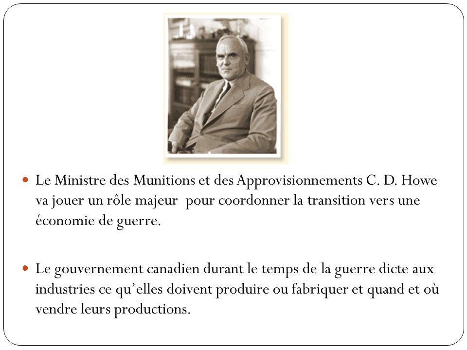 Le Ministre des Munitions et des Approvisionnements C.