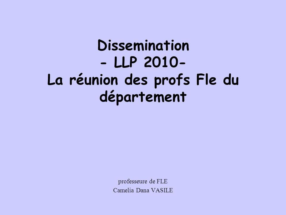 Dissemination - LLP 2010- La réunion des profs Fle du département professeure de FLE Camelia Dana VASILE
