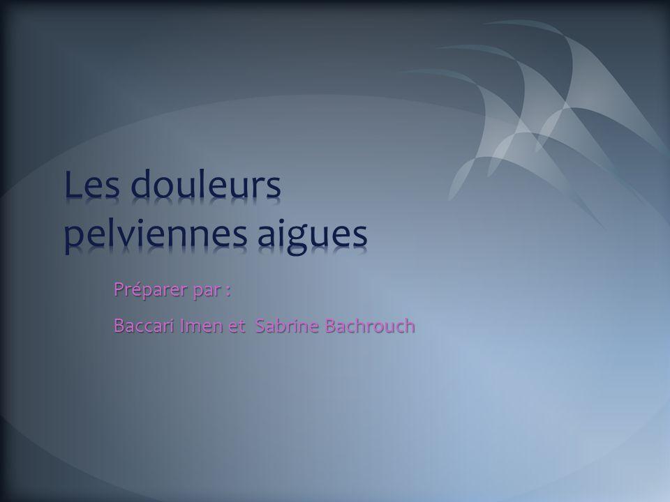 Préparer par : Baccari Imen et Sabrine Bachrouch