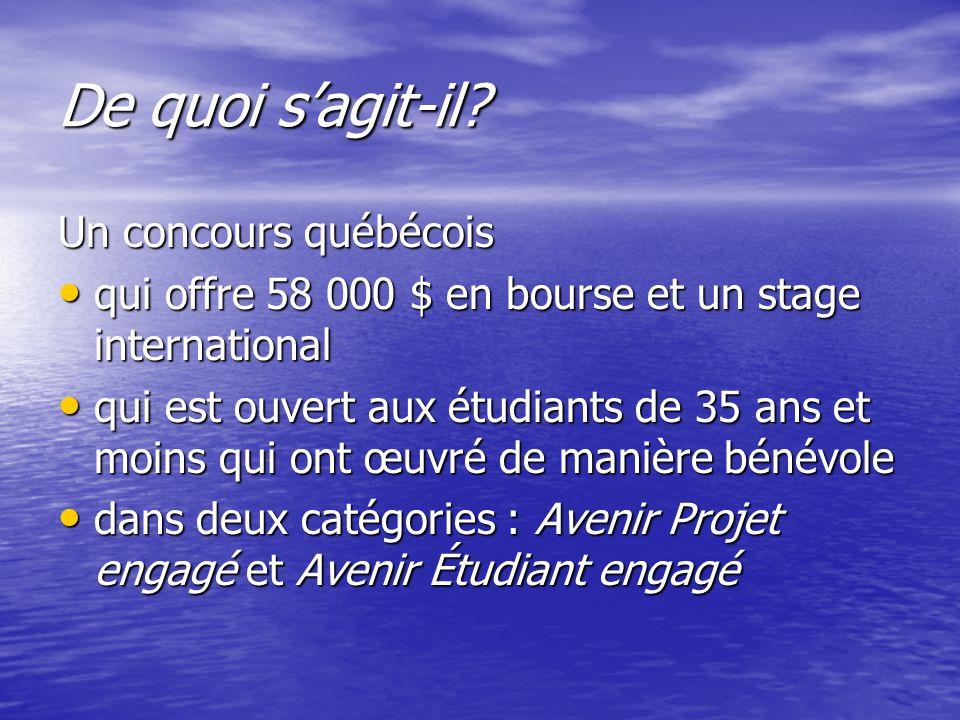 Pour avoir plus de renseignements : Sylvie Plessis-Bélair B-413 418 724-2822, poste 4284 Courriel : ppless@imq.qc.ca Consultez aussi le site www.forcesavenir.qc.ca