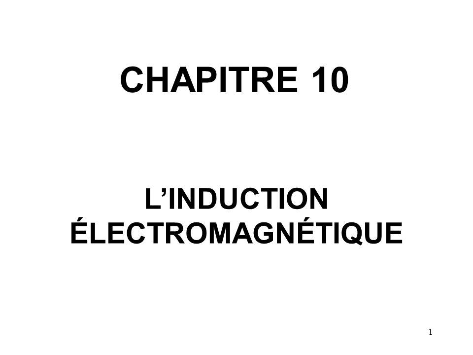 1 CHAPITRE 10 L'INDUCTION ÉLECTROMAGNÉTIQUE