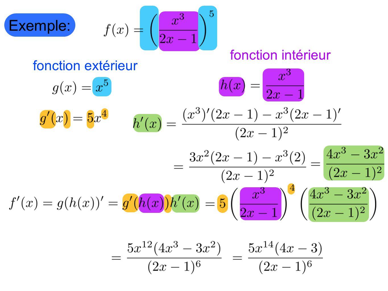 Exemple: fonction intérieur fonction extérieur