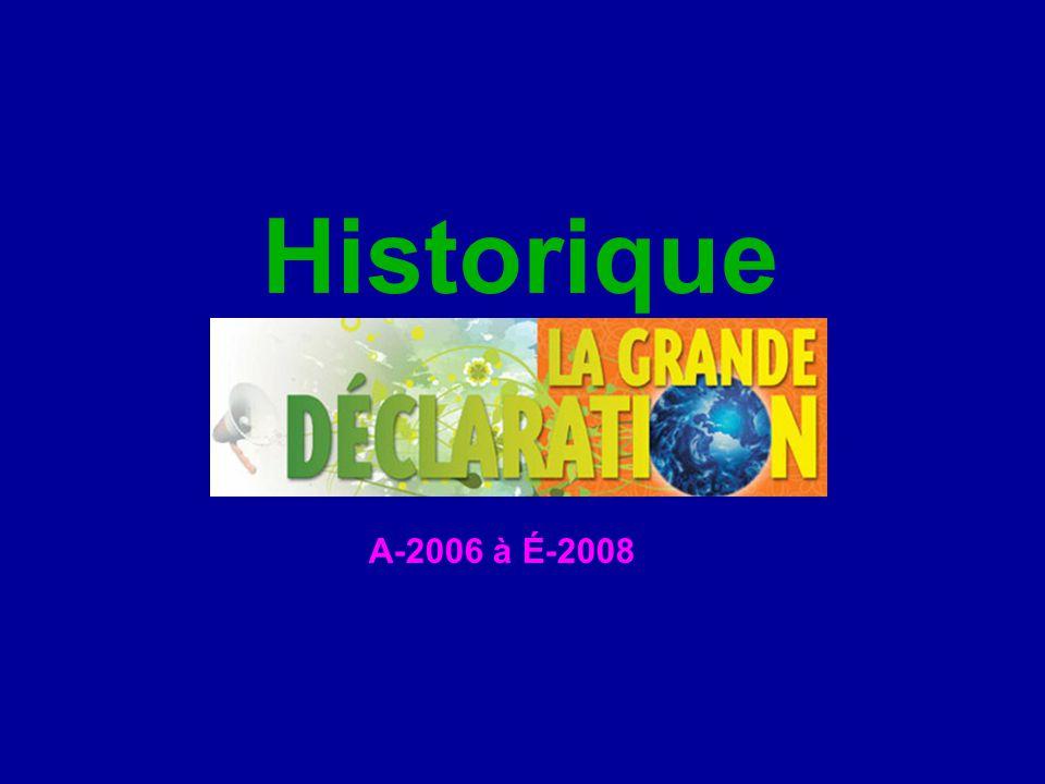 Historique A-2006 à É-2008