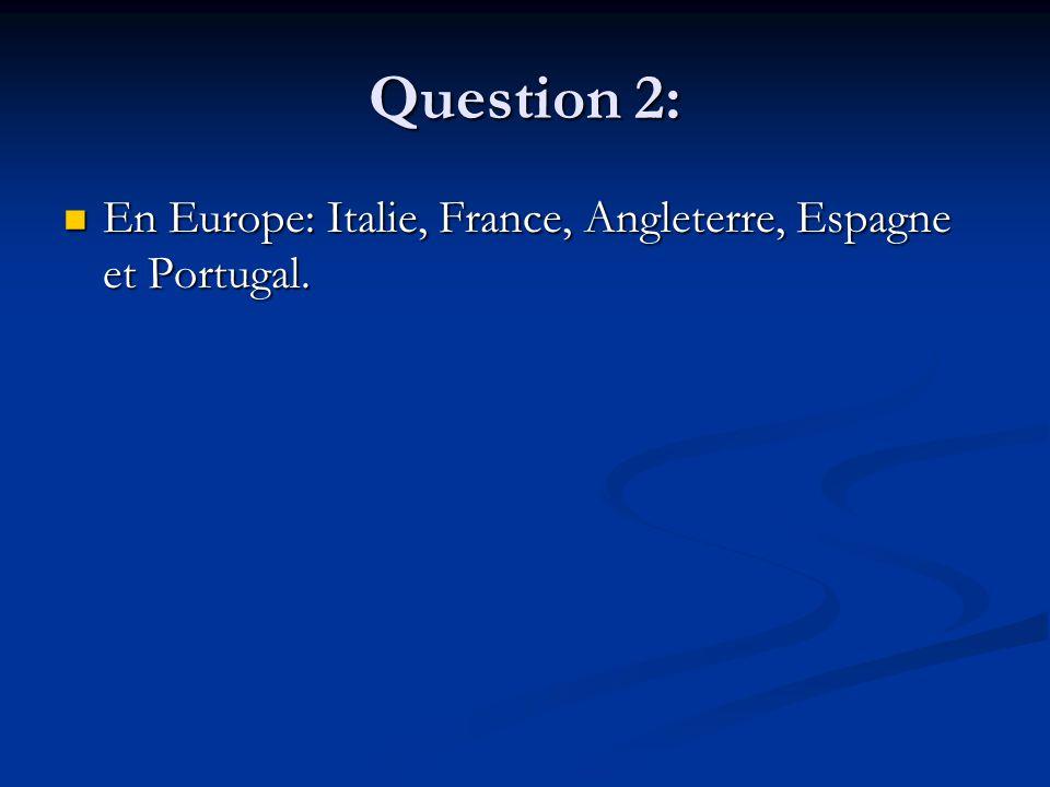 Question 13: Vasco de Gamma : il contournera la pointe sud de l'Afrique pour se rendre en Inde.