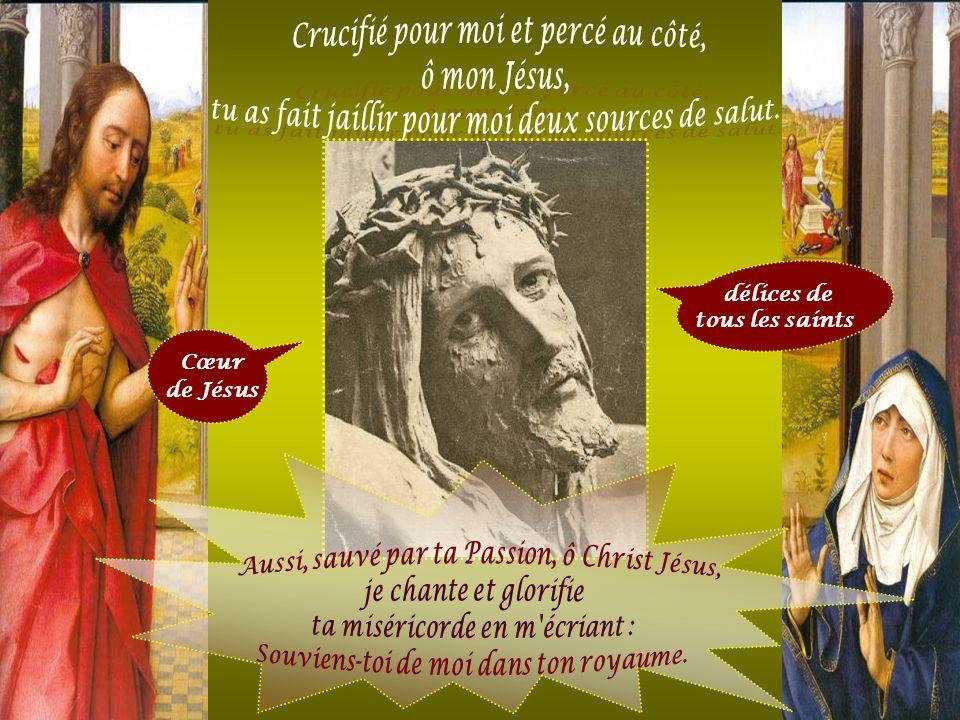 Cœur de Jésus Je chante ta lance, j'acclame tes clous, l'éponge, le roseau, la Croix par lesquels Tu m'as sauvé, O Jésus Dieu ! (Liturgie orientale) s