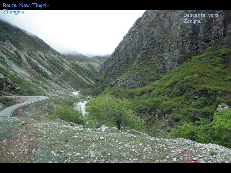 Route New Tingri- Zhangmu Descente vers Zangmu