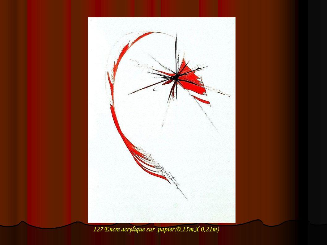 128 Encre acrylique sur papier (0,15m X 0,21m)