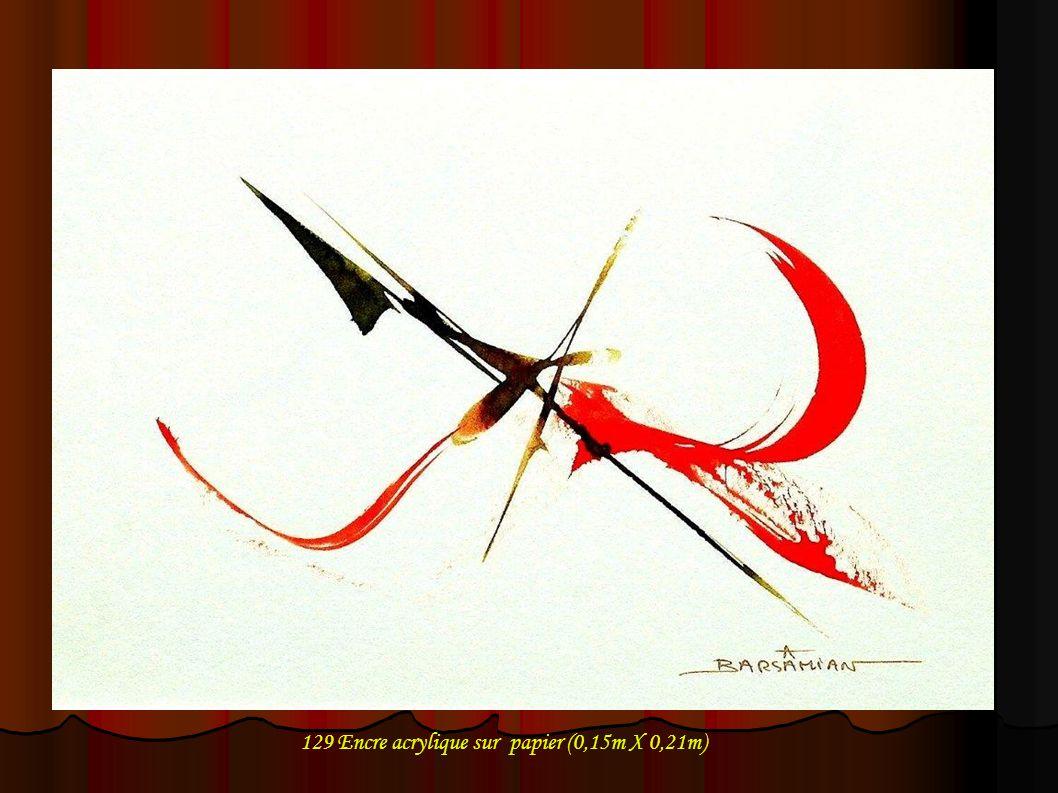 129 Encre acrylique sur papier (0,15m X 0,21m)