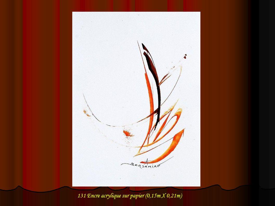 132 Encre acrylique sur papier (0,15m X 0,21m)
