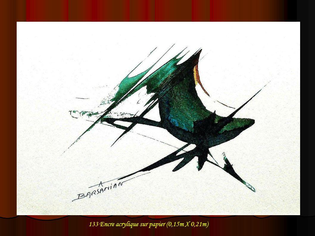133 Encre acrylique sur papier (0,15m X 0,21m)