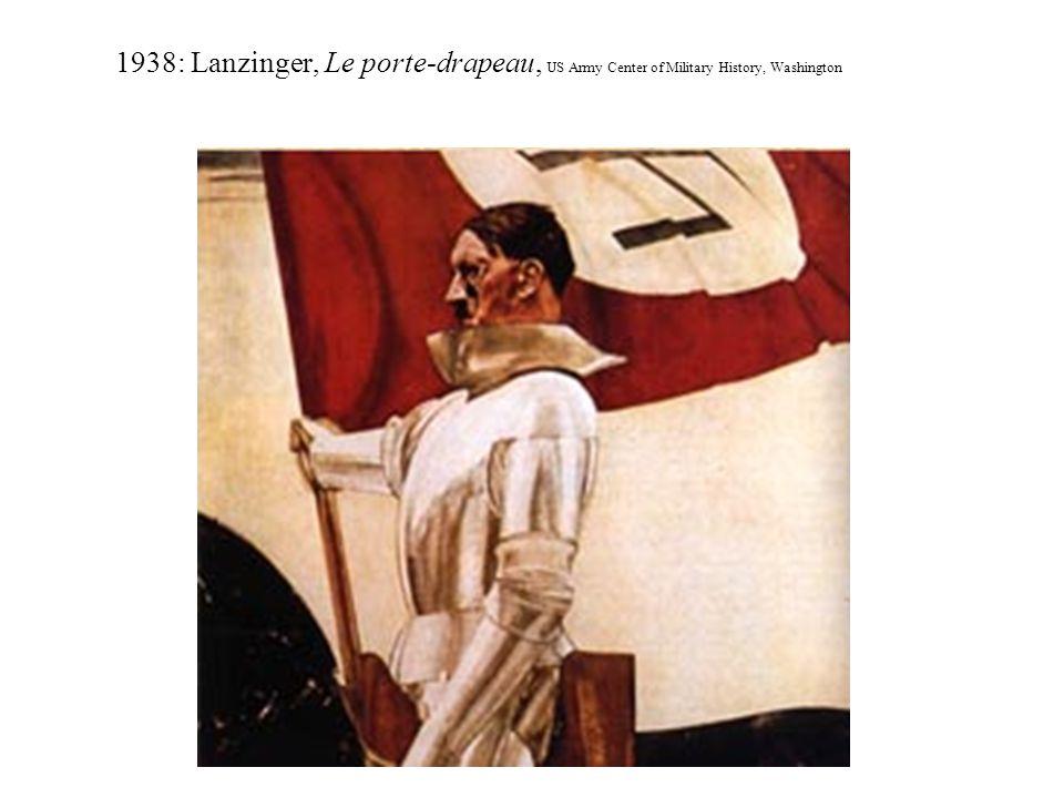 1938: Lanzinger, Le porte-drapeau, US Army Center of Military History, Washington