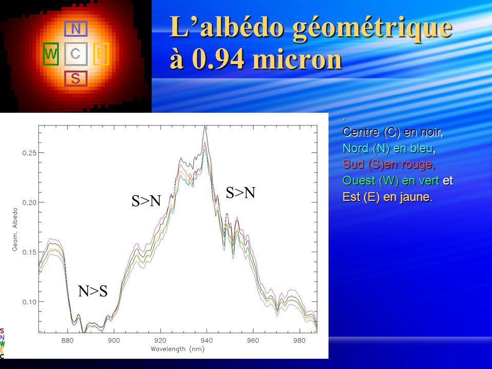 L'albédo géométrique à 0.94 micron.